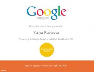 Google analytics individual qualified