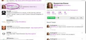 краткий профайл твиттер пользователя